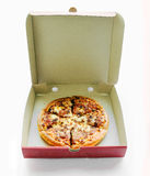 Pepperoni pizza in box Royalty Free Stock Photo