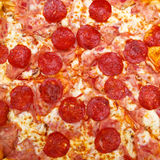 Pepperoni Pizza Close Up Stock Images