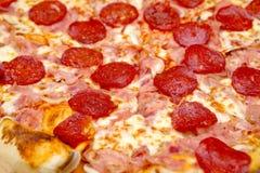 Pepperoni Pizza Close Up Stock Image