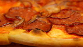 Pepperoni pizza stock video footage