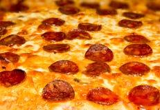 Pepperoni Pizza Closeup Stock Photo