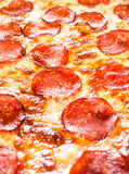 Pepperoni pizza closeup Stock Image
