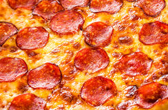 Pepperoni pizza closeup Stock Photography