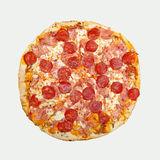 Pepperoni pizza cut out Royalty Free Stock Photography