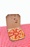 Pepperoni pizza delivery Royalty Free Stock Image