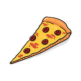 Pepperoni Pizza illustration Royalty Free Stock Image