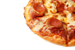 Pepperoni pizza isolated on white background Stock Image