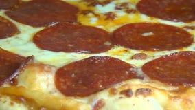 Pepperoni Pizza, Junk Foods, Italian Food stock footage