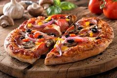 Pepperoni pizza Luksusowa obrazy stock