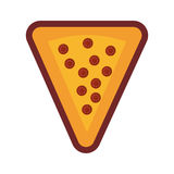 Pepperoni pizza piece Royalty Free Stock Photography