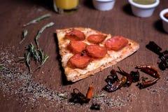 Pepperoni Pizza slice stock photography