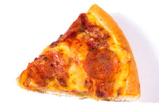 Pepperoni pizza slice Stock Images