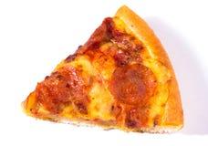Pepperoni pizza slice. On white background stock images