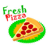 Pepperoni Pizza Vector Art Stock Images