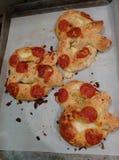 Pepperoni pretzels Στοκ φωτογραφία με δικαίωμα ελεύθερης χρήσης