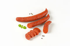 Pepperoni sausages Royalty Free Stock Images