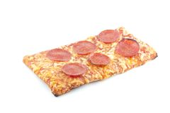 Pepperoni School Pizza Royalty Free Stock Photography