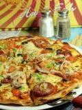 pepperoni serowa pizza Obrazy Royalty Free