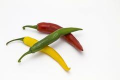Pepperoni-Trio lizenzfreie stockfotos