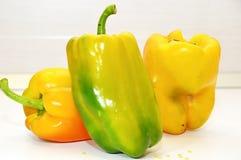 Pepperoni warzyw żółty zielony jedzenie Zdjęcie Royalty Free