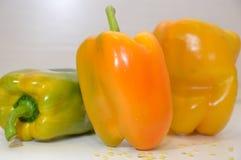 Pepperoni warzyw żółty zielony jedzenie Obraz Royalty Free