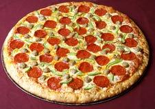 Pepperonipizza Stockbild
