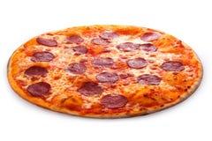 Pepperonipizzabasilikum Stockbild