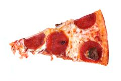 Pepperonipizzascheibe Lizenzfreie Stockfotos