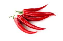 Pepperonis auf weißem Hintergrund lizenzfreies stockfoto