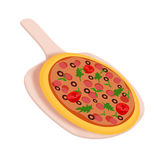 Pepperonispizza Royalty-vrije Stock Afbeeldingen