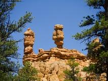 Pepperpot岩石在红色峡谷国家公园,犹他,美国 库存图片