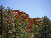 Pepperpot Rocks in Red Canyon National Park, Utah, USA Stock Photos