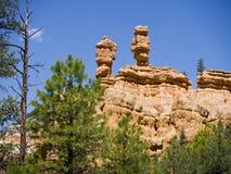 Pepperpotrotsen in Rood Canion Nationaal Park, Utah, de V.S. Royalty-vrije Stock Foto's