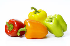 Peppers. Fresh peppers with different colors Royalty Free Stock Images