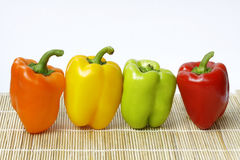 Peppers. Fresh peppers with different colors Royalty Free Stock Image