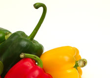 Peppers. Red, Green and Yellow Peppers Stock Photography