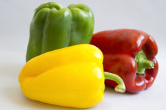 Peppers. Beautiful peppers with amazing colors Royalty Free Stock Photos
