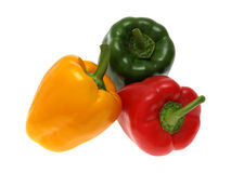 Peppers. Yellow and red peppers green Royalty Free Stock Images