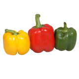 Peppers. T3 colours peppers , yello, green, red stock photos
