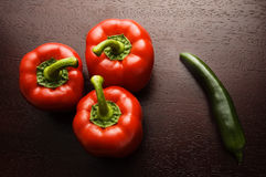 Peppers. Red and Green Peppers Stock Images