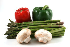 Peppers, Asparagus and mushrooms Stock Images