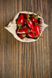 Peppers in bag Stock Images
