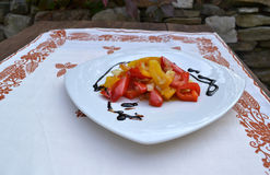 Peppers with balsamic vinegar Stock Images
