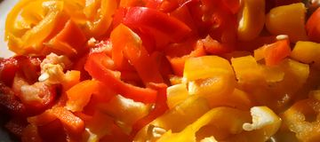 Peppers banner Stock Image