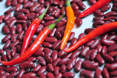 Peppers and beans Royalty Free Stock Images