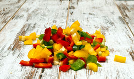Peppers bell cut Stock Photo