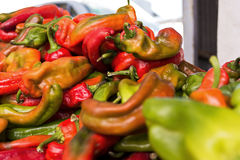 Peppers. Candy at the lokal market just out side of ceudad quesada spain royalty free stock photos