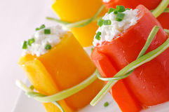 Peppers with cheese, closeup Stock Photo