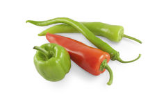 Peppers with clipping path Stock Photography