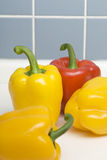 Peppers on closeup. A Group of peppers on closeup Royalty Free Stock Image